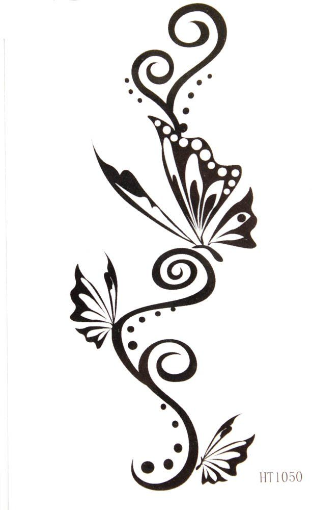 ggsell hot selling waterproof black tattoo stickers totem butterfly totem amazon beauty nice. Black Bedroom Furniture Sets. Home Design Ideas