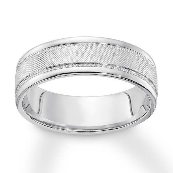 Men S Textured Wedding Band 10k White Gold 6mm Mens Gold Wedding Band Textured Wedding Band Mens Wedding Rings