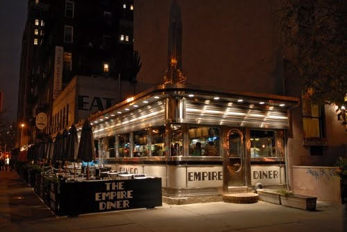 The Empire Diner by night. I found this place years ago and I swear they had the best cheesecake I have ever had!