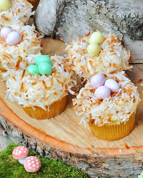 Coconut Nest Cupcakes Recipe