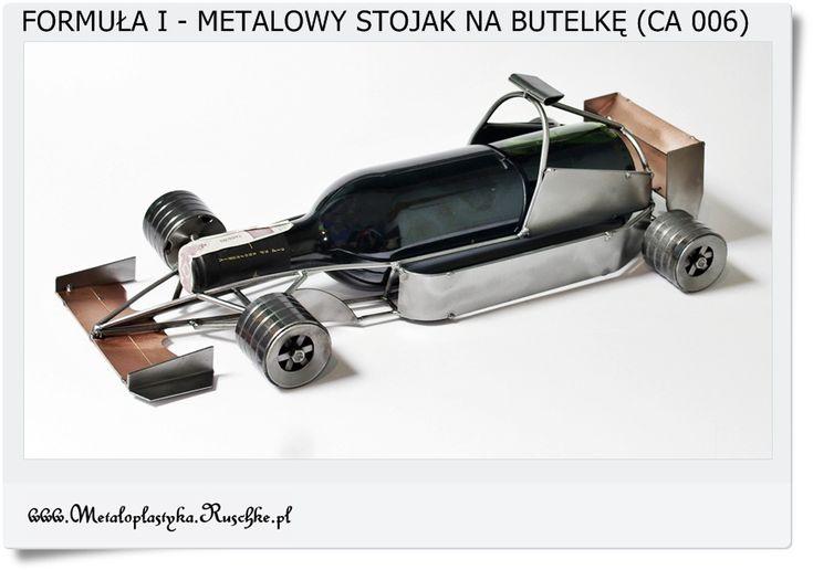 Auto formuła 1 metalowy model na prezent Stojak na butelkę