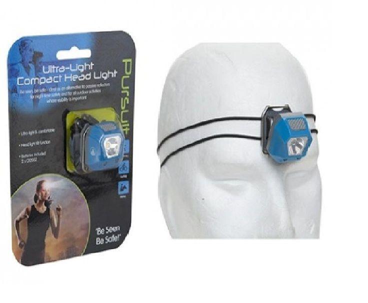Summit Night Vision LED Lightweight Headlight Running Jogging Adjustable Strap