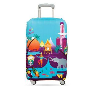 Housse de valise de Loqi –  Idéale pour personnaliser et protéger une valise. Résistante à l'eau et lavable. Offerte en plusieurs grandeurs et différents motifs.
