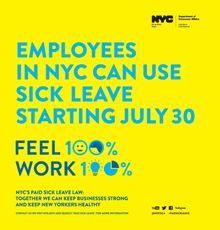 Know your rights! Starting today employees in NYC can use sick leave. #legal #rights #NYC #law #employeerights