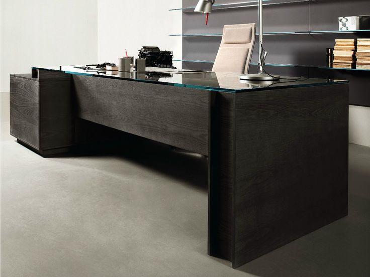 Escritorio de oficina ejecutivo con cajones MILANO by Gallotti&Radice diseño Daniele Lo Scalzo Moscheri