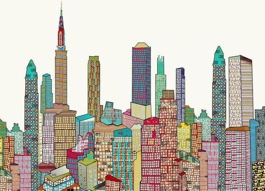 new york living - Brian Buckley - Impression sur toile