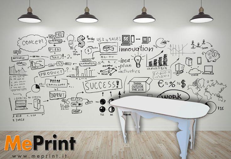 """Tavolo in cartone - Un'idea originale per arredare con gusto ed essere """"eco"""" allo stesso tempo. Tutto il tavolo puà essere stampato con grafiche a vostro piacimento, quindi il tavolo risulerà completamente personalizzato! #meprint #stampa #cartone - www.meprint.it"""