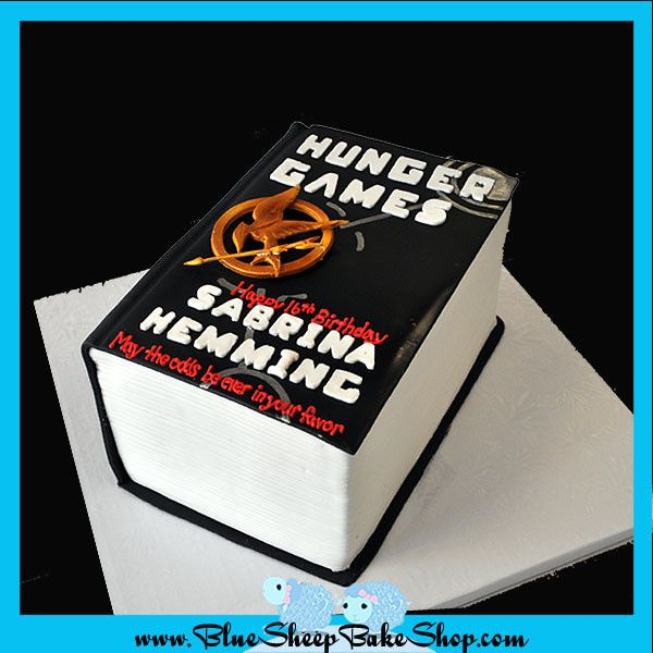 Hunger Games Book Custom Birthday Cake – Blue Sheep Bake Shop