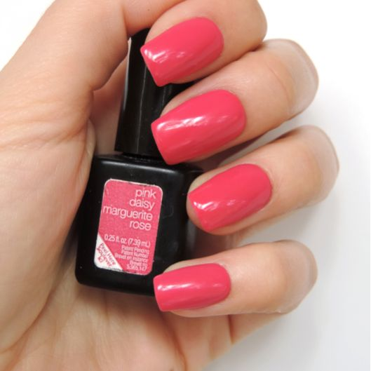 Add a sweet pop of color to your Saturday style with a #SensatioNail #PinkDaisy #GelPolish manicure!