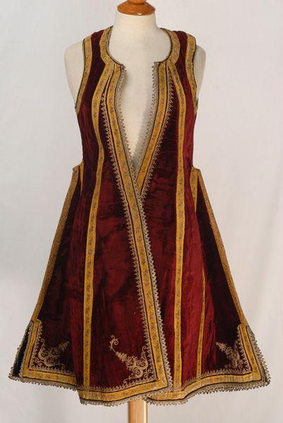 Katifes, sleeveless velvet overcoat , Megnesia