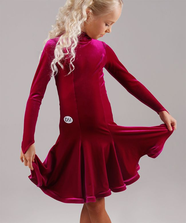 DSI Lizzie Juvenile Turtle Neck Dance Dress 1085J| Dancesport Fashion @ DanceShopper.com