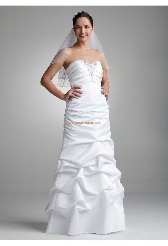 Robe de mariée pas cher froncée perles