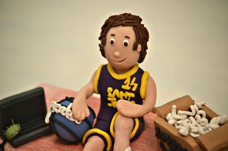 Personalized Music Box. Basketball player with an Amazon box