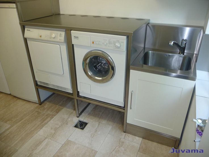 Wasmachine, net iets hoger dan op de grond