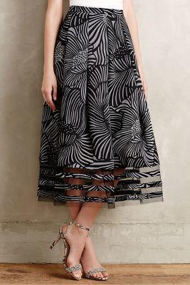 SB by Sachin and Babi Nightblossom Midi Skirt