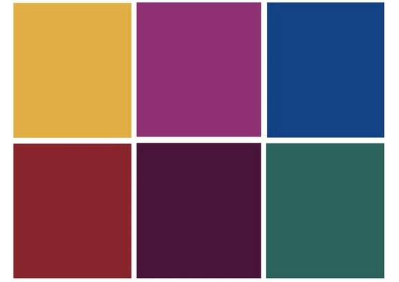Jewel Tones- my favorite colors (only one I don't wear is yellow)
