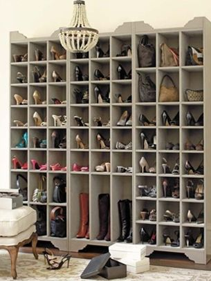 organize shoes- i need this!