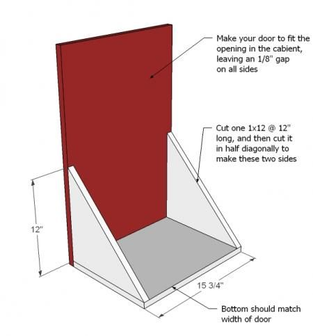 Ana White   Build a Wood Tilt Out Trash or Recycling Cabinet   Free and Easy DIY Project and Furniture Plans