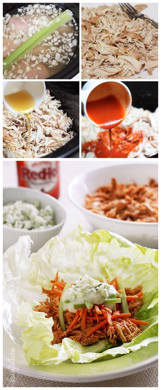 Crock Pot Buffalo Chicken Lettuce Wraps: Chicken Wraps, Chicken ...