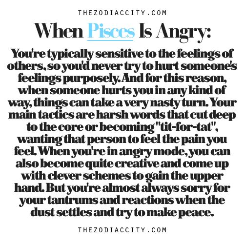 Zodiac Files: When Pisces Is Angry.
