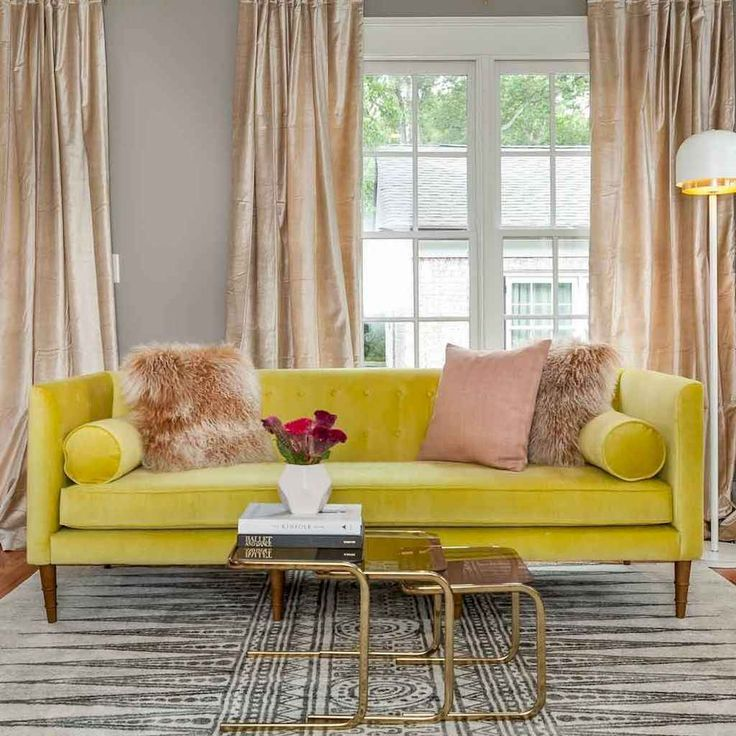 13 beautiful yellow sofa for living room decor ideas