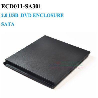 Slot in USB 2.0 external dvd enclosure SATA 9.5mm Laptop Notebook CD Caddy No Driver
