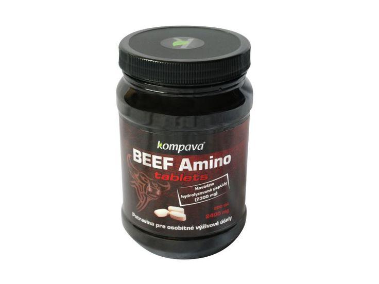 Hovězí protein KOMPAVA Beef Amino tbl.