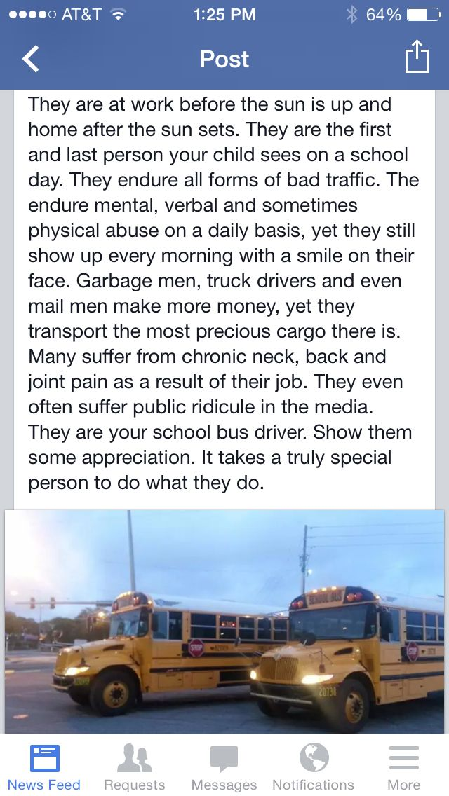 Thank a school bus driver.
