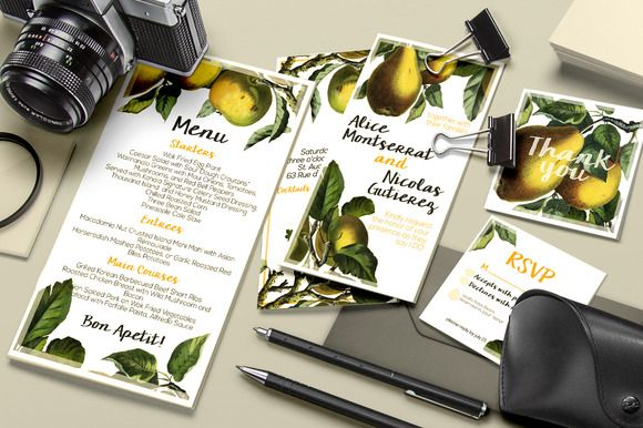 Check out Botanical Wedding Suite Vol 1. by DESIGNbook on Creative Market
