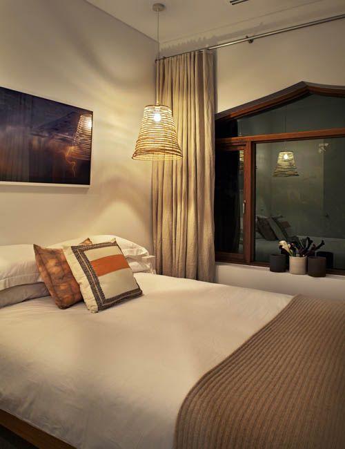 BONDI BEACH PAD | alwill  #interiors #bedroom #curtains #neutral #pendant #artwork