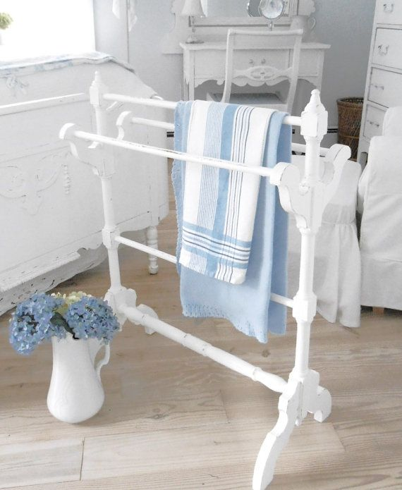 quilt rack blanket rack bedroom shabby chic by backporchco on Etsy