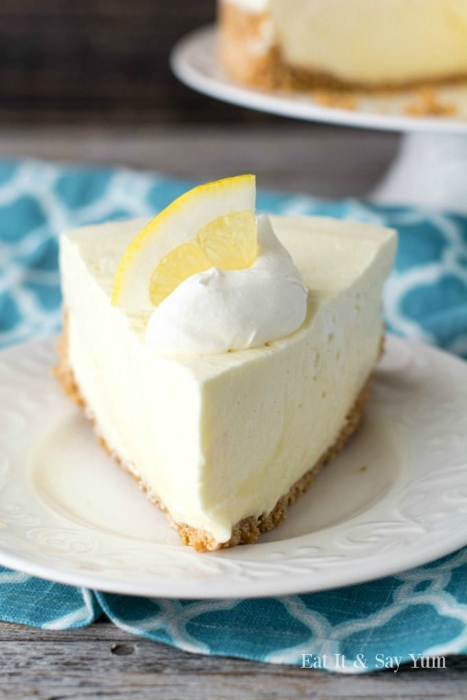 Creamy lemon cheesecake that is no-bake, and just perfect for Spring and Summer. Hi friends!  I've got a great Spring and Summer dessert for you.  Lemon Cheesecake!  And it's no-bake, s…