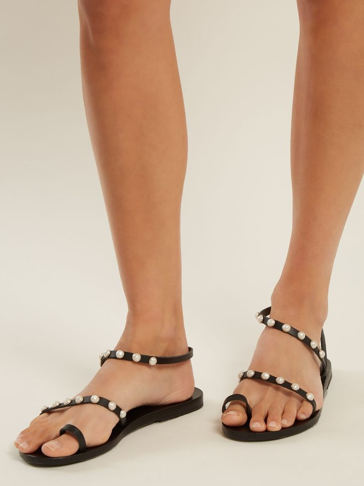 Click here to buy Ancient Greek Sandals Apli Eleftheria embellished leather sandals at MATCHESFASHION.COM