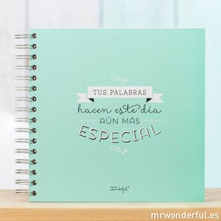 Libro de firmas para bodas de Mr.Wonderful