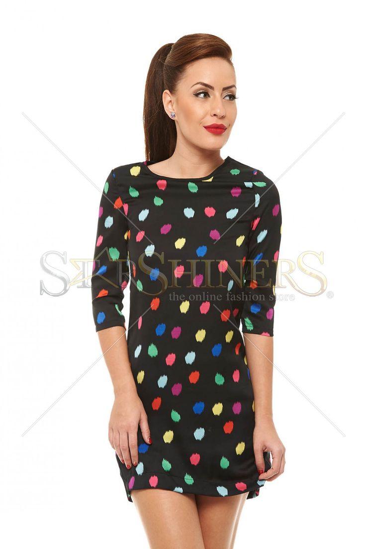 Crazy Dots Black Dress