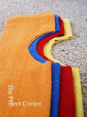 The Project Corner: DIY Towel Bibs