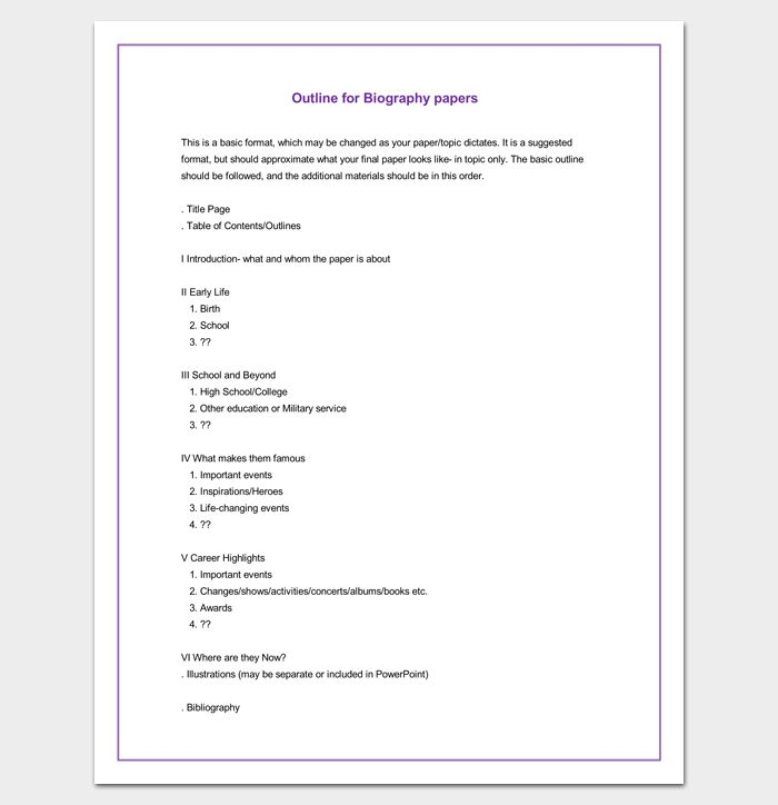 Book Writing Template, Essay Format
