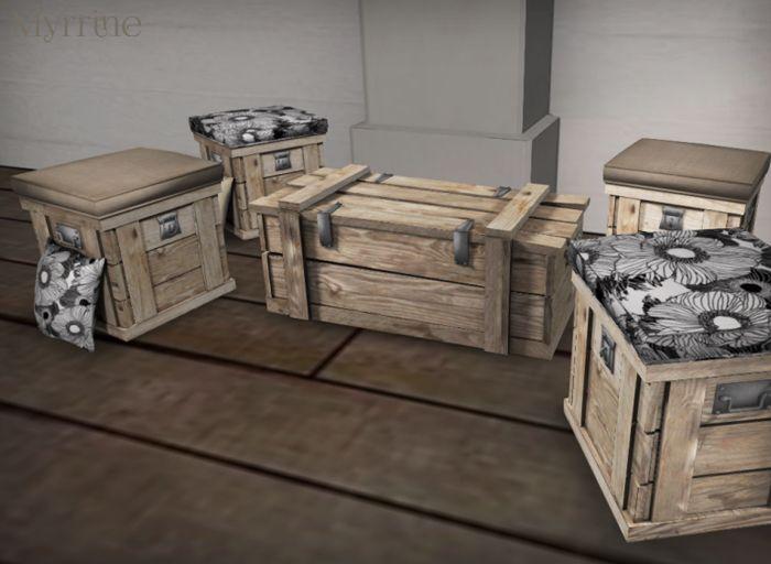 Cargo Furniture Set Available @Myrrine Inworld Store And Marketplace.