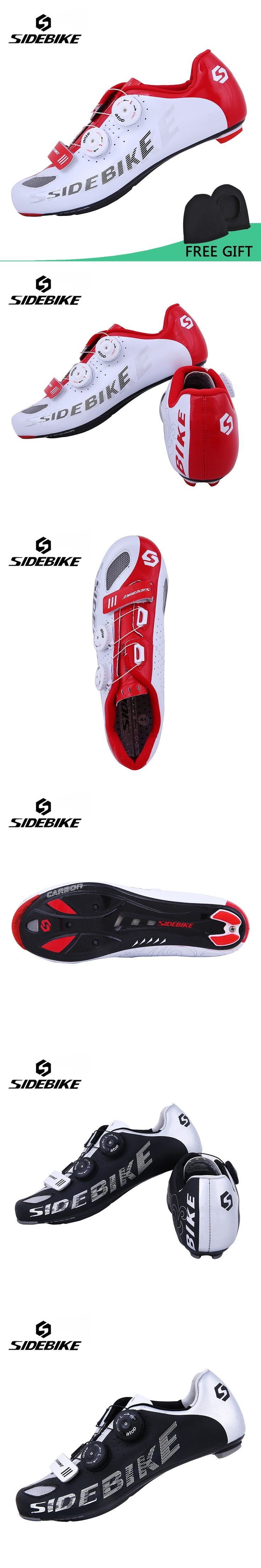 Sidebike Men Road Bike Shoes Self-Locking Ride Bicycle Shoes Carbon Lightweight Highway Lock Cycling Shoes Road Cycling Shoes