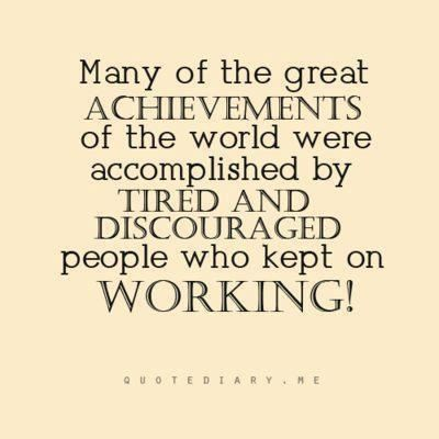 We need more people who keep on working!