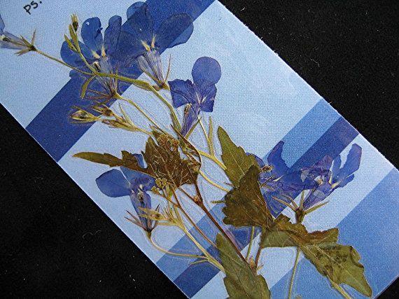 Christian Children Bookmark TWO Real Flower by mingogardens