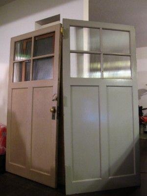 玄関のアンティーク扉設置2   MyHouse 新築改装の日々-DIYブログ- 玄関扉にするドアは