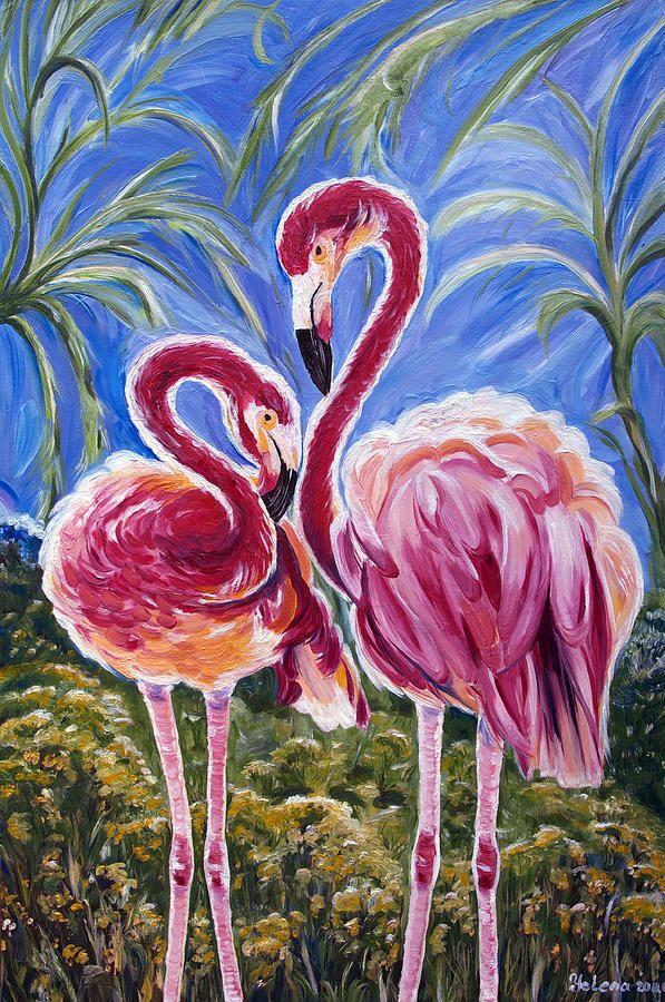 165 Best Art Of Flamingoes Images On Pinterest Pink