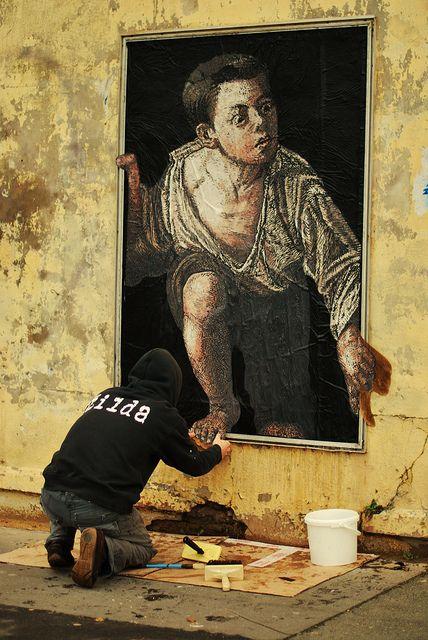 Escaping Criticism [Palimpseste] #street art #graffiti