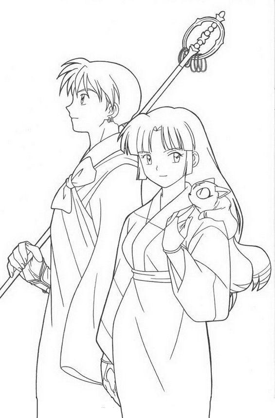 Inuyasha 10 Dibujos Faciles Para Dibujar Para Ninos Colorear Colorear Anime Dibujos Anime Facil De Dibujar