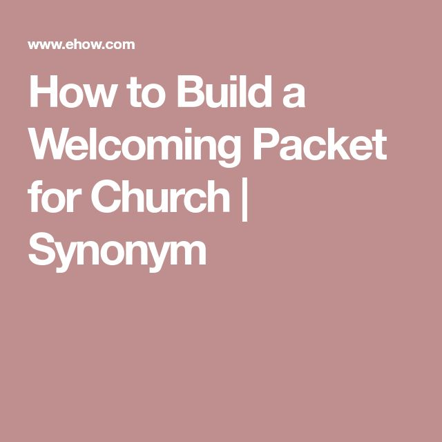 How to Build a Welcoming Packet for Church | Synonym
