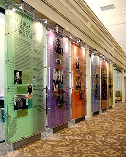 Small Exhibition Stand Ideas : Medical college history exhibition virginia commonwealth