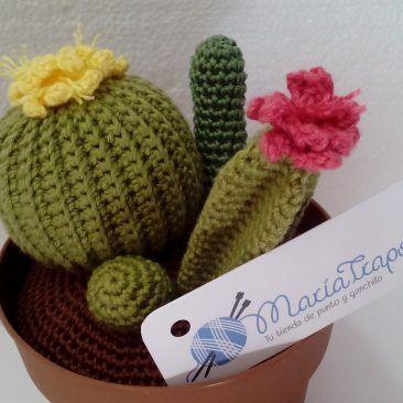 Amigurumis. Cactus de ganchillo