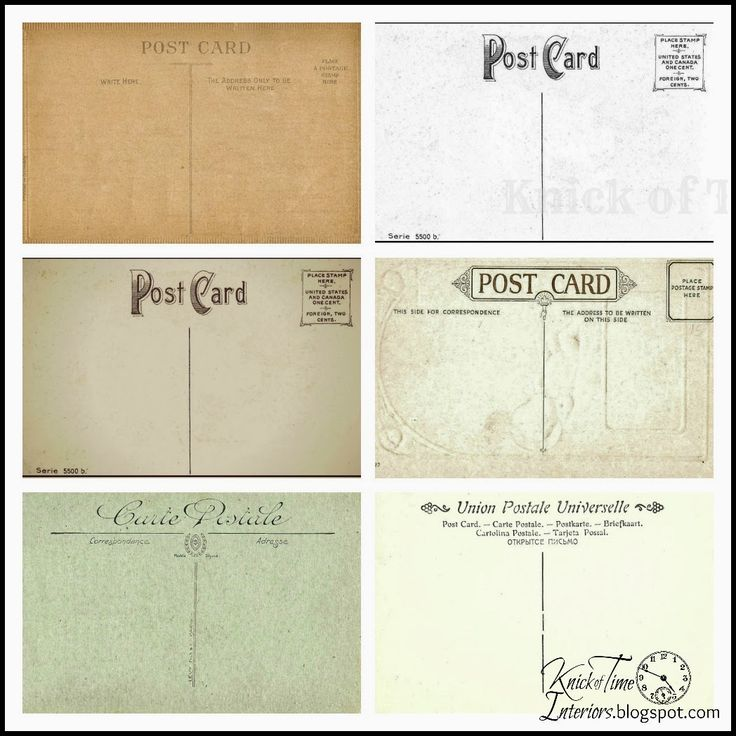Antique Postcards {The Back Sides} Free Printables from Knick Of Time @ knickoftime.net