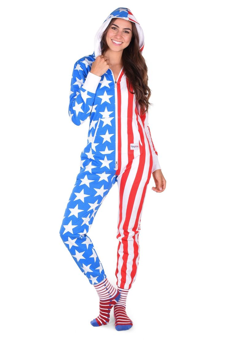 Women's American Flag Jumpsuit | Tipsy Elves